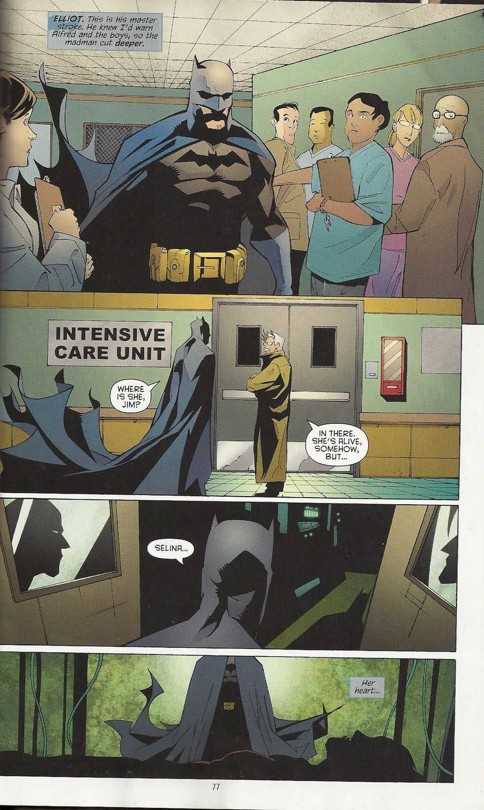 Selina Her Heart Batman In Heart Of Hush Batman Comic Art