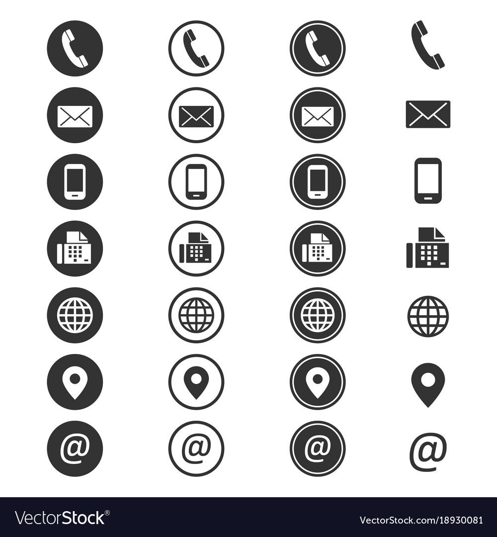 Contact info icon phone addressbook button contacts of