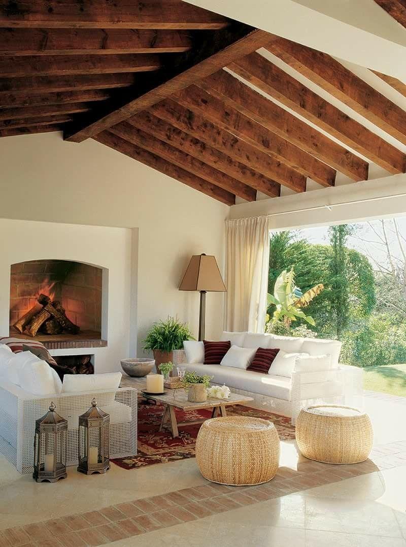 Nice Deco Interiors, Outdoor Areas, Beige, Beams, Ceilings, Furniture Ideas,  Spaces, Architecture, Interiors