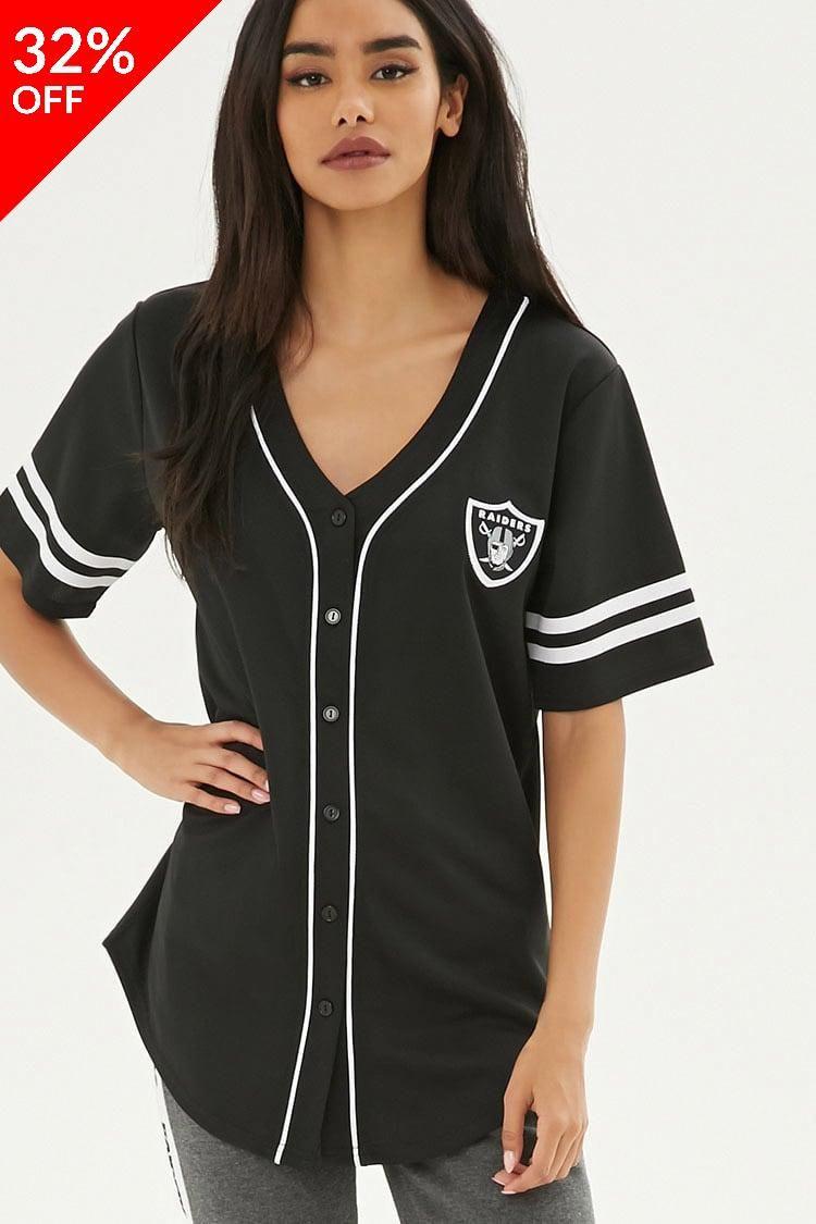 NFL Raiders Baseball Jersey // 16.99 USD // Forever 21