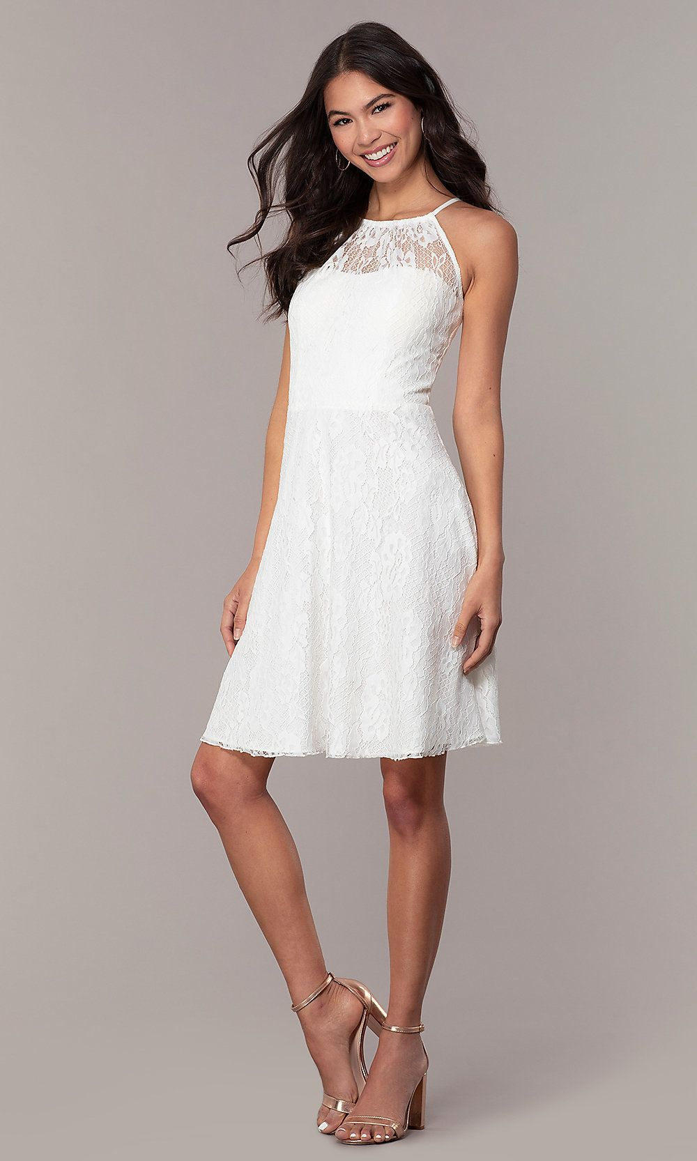 bd7364e38c White Lace Short Graduation Dress by Simply in 2019