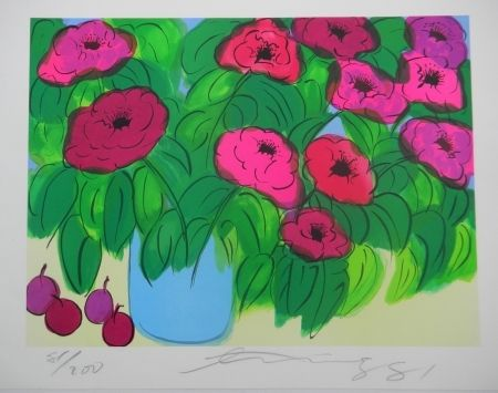 Lithographie - Walasse Ting - Flowers