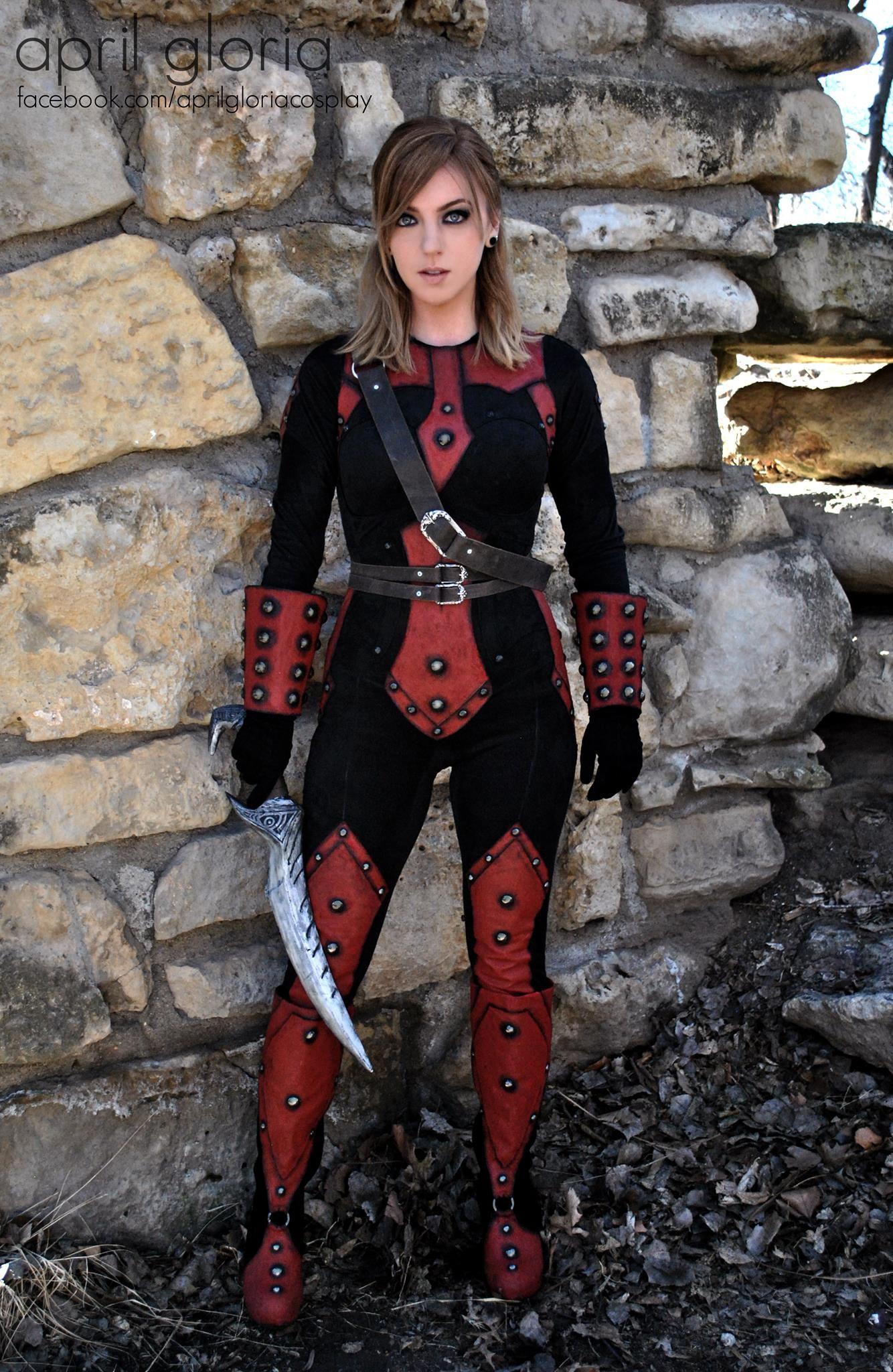 Female Cosplay Costume Mask Hood Women Halloween Outfit of Dark Brotherhood