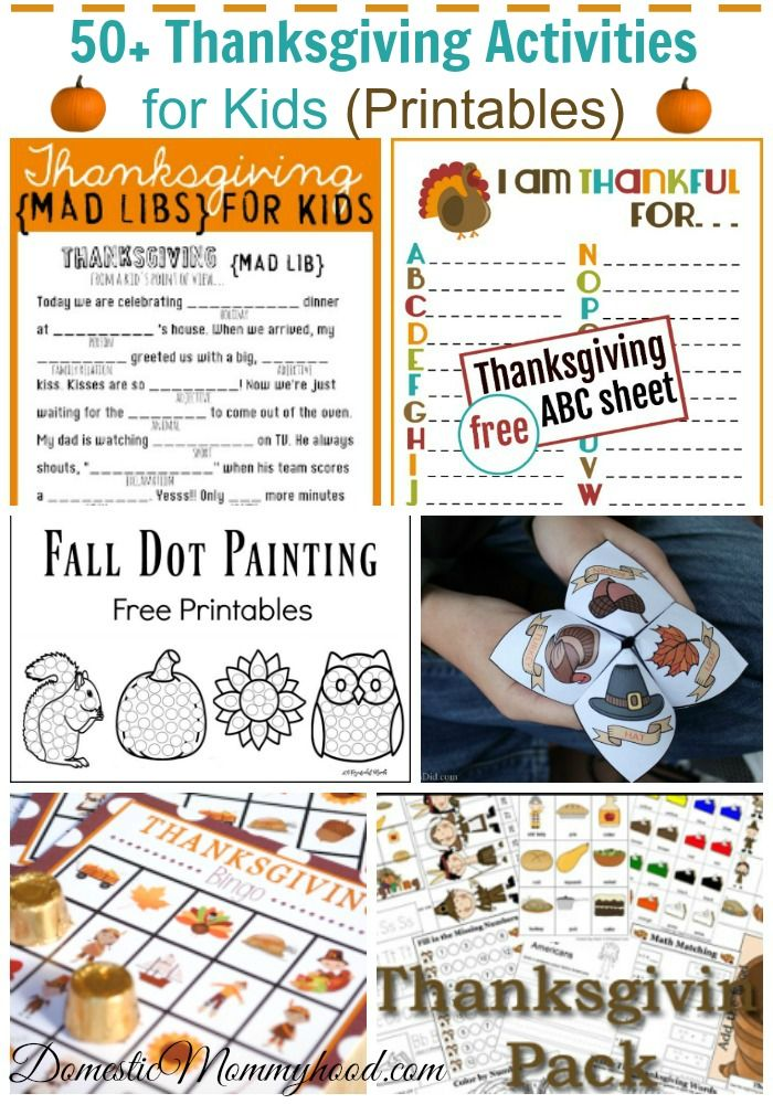 50-thanksgiving-activities-for-kids-printables ...