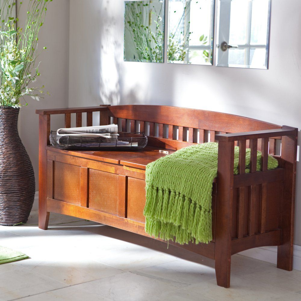 Hunter Storage Bench With Optional Cushion Indoor Benches At Hayneedle