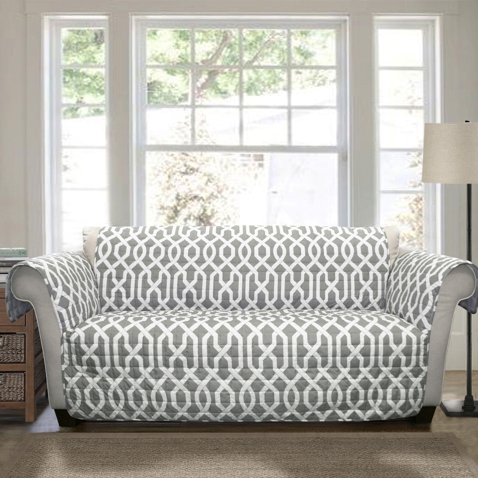 Fingerhut lush decor edward trellis sofa protector