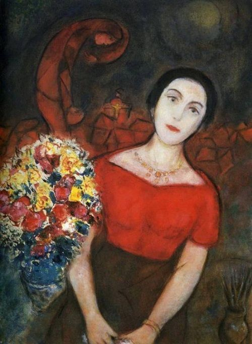 Portrait of Vava by Marc Chagall (viola)                              …