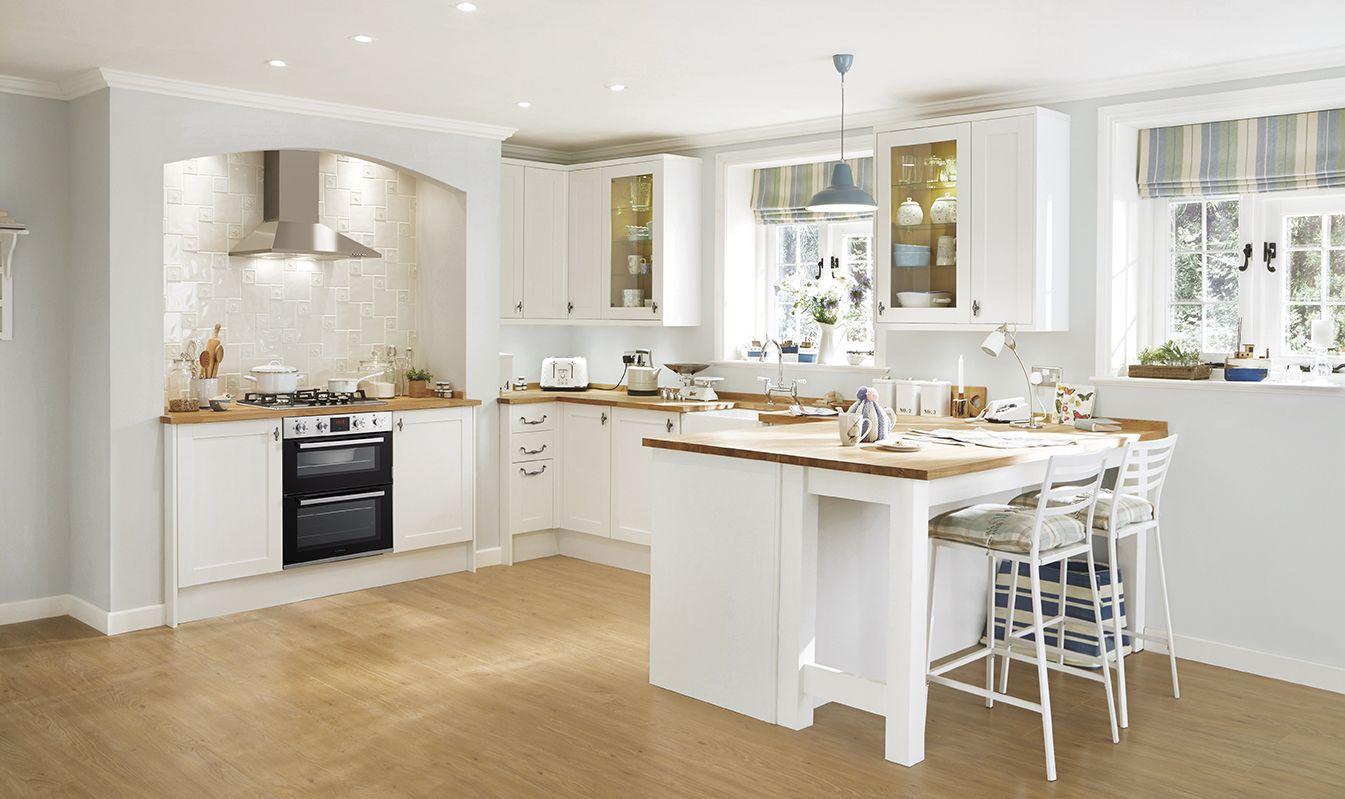 Cream kitchen with pendant lights | Pendant lighting, Pendants and ...