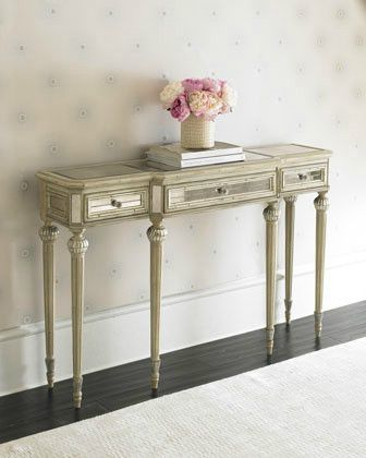 Dresden Mirrored Console   Traditional   Side Tables And Accent Tables    Chic Coles