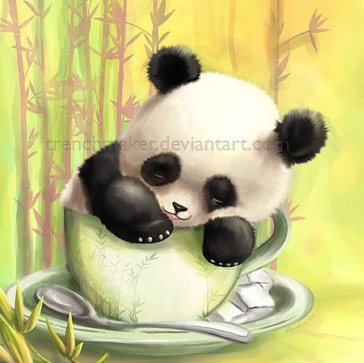 Cute Cartoon Panda Bears