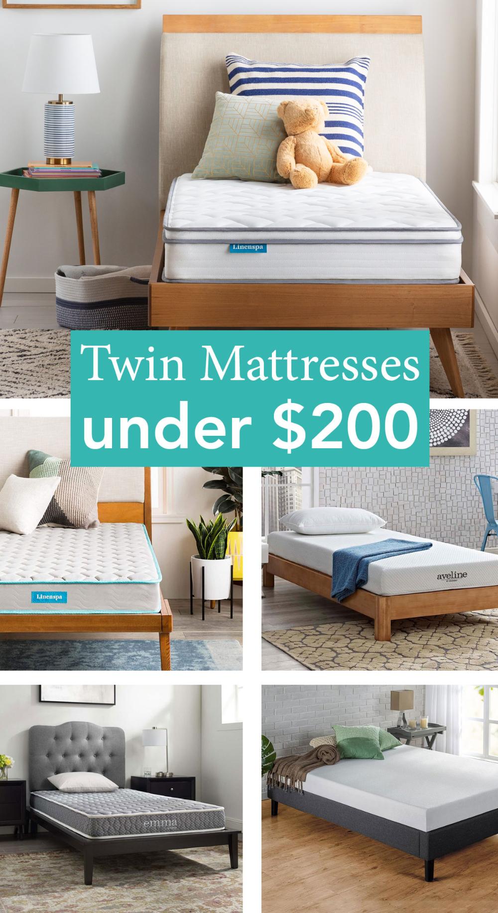 Twin Mattresses Under 200 In 2020 Twin Mattress Mattress Twin Matress
