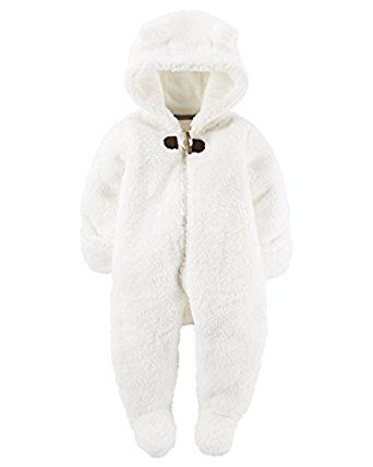 Amazon Com Hooded Sherpa Bunting Clothing Baby Clothes