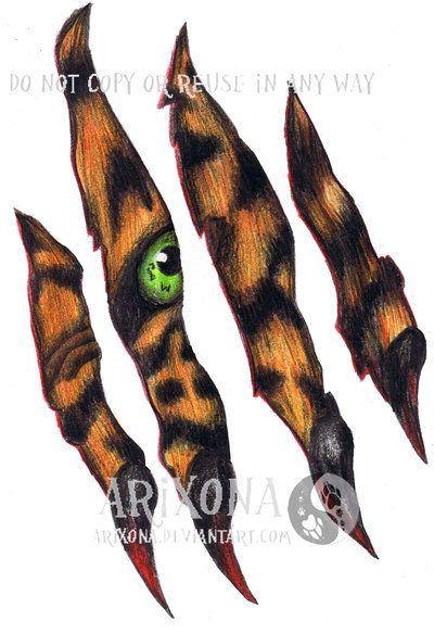 tiger scratch tattoo best 3d tattoo ideas pinterest tigers rh pinterest ca Scratch Mark Tattoos Claw Tattoo