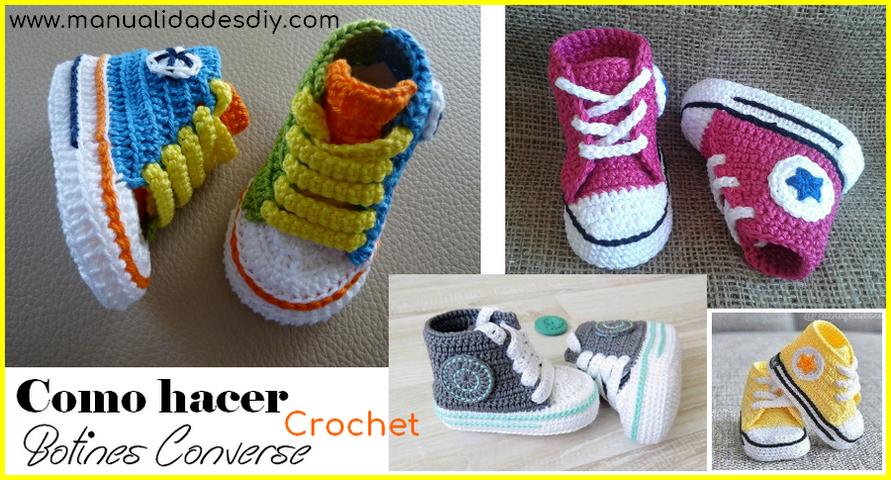 Todo el mundo ama estos botines en Crochet Converse!! Son preciosos ...