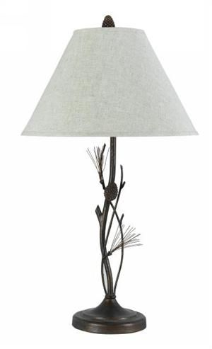 Pine Twig Wrought Iron Table Lamp Table Lamp Rustic Lamps