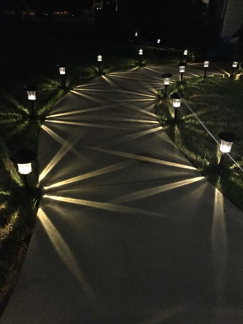 I Love These Smartyard Solar Led Pathway Lights I Got From Costco They Remind Me Of Our Honeymo Best Outdoor Lighting Outdoor Path Lighting Landscape Design