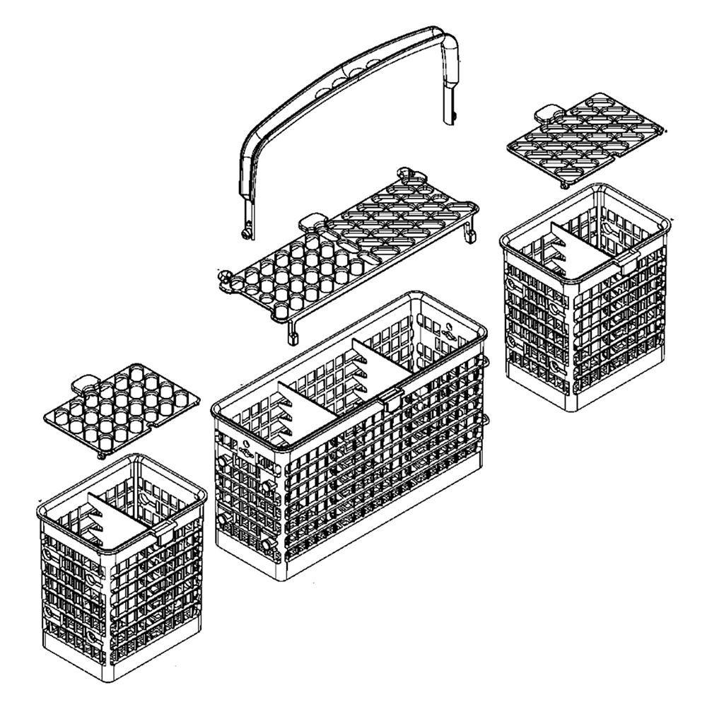 Looking For Dishwasher Silverware Basket Wd28x10109 Replacement Or Repair Part Basket Dishwasher Silverware