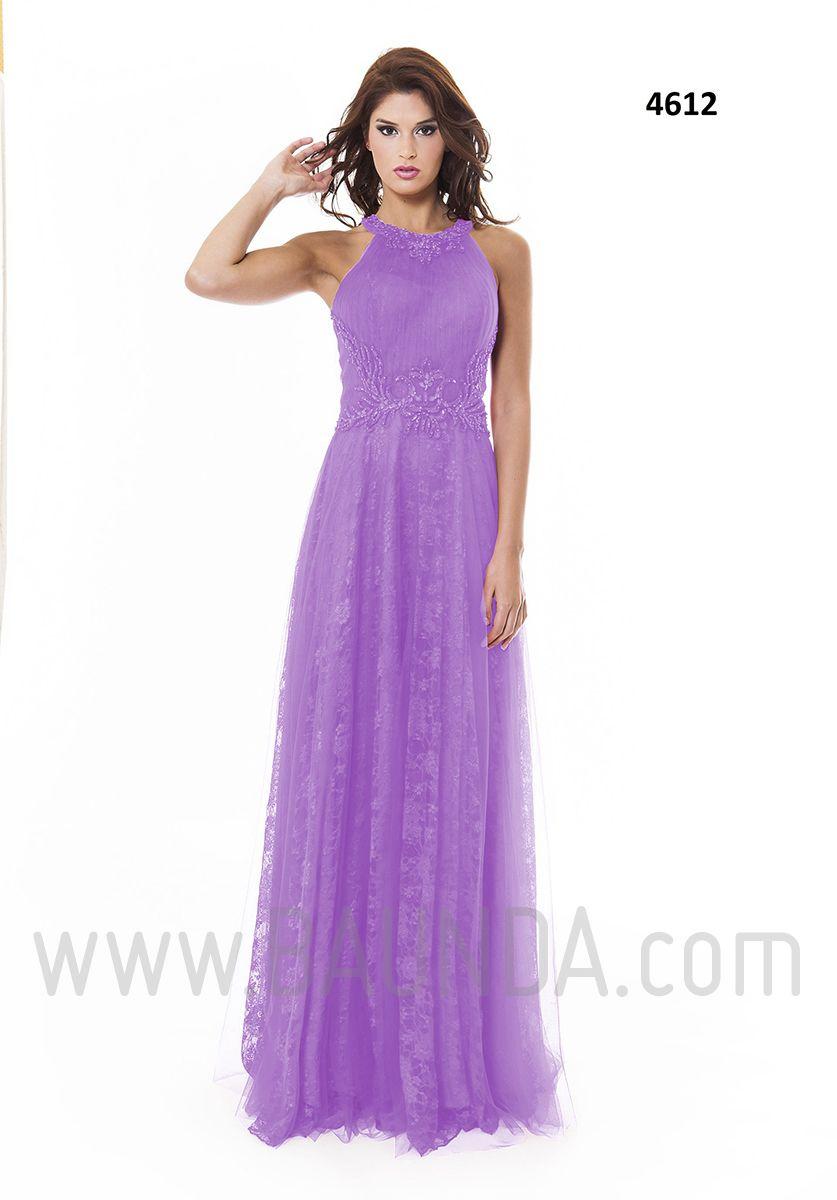 Vestido de fiesta largo lila