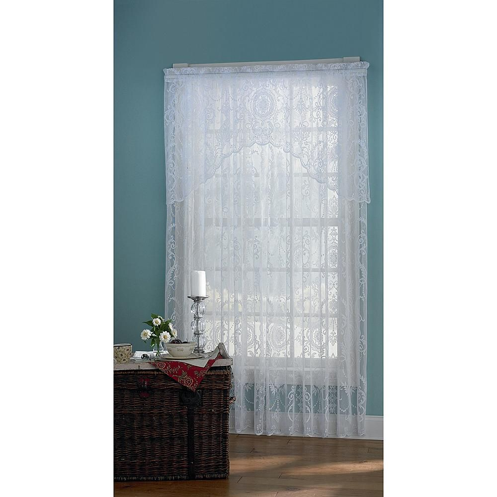 Essential Home Coraline Lace White Window Panel KMART: wedding arch ...