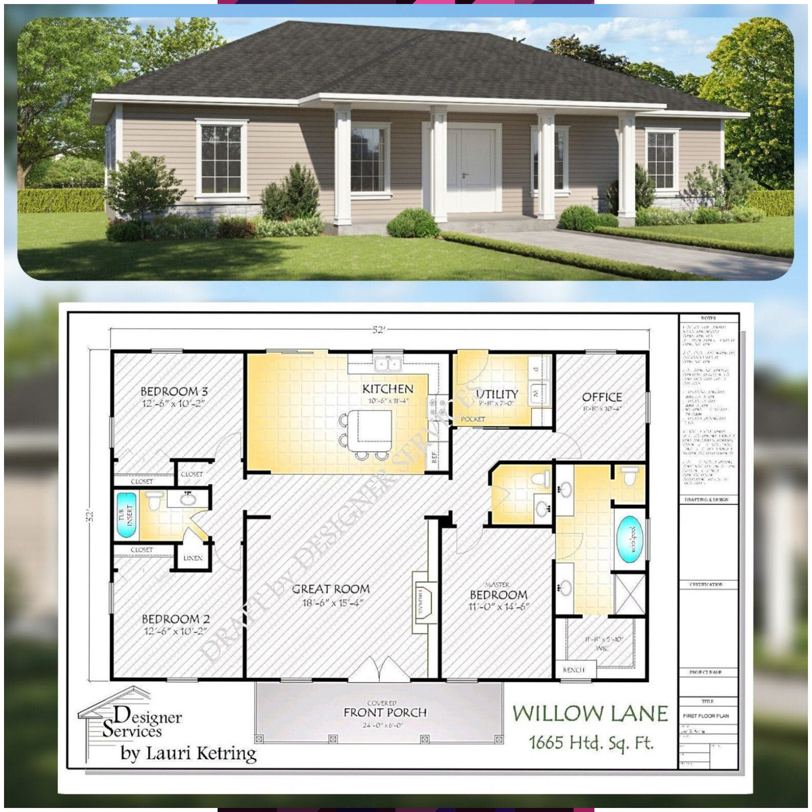 The Willow Lane House Plan Hip Roof Option In 2020 House Plans Hip Roof How To Plan