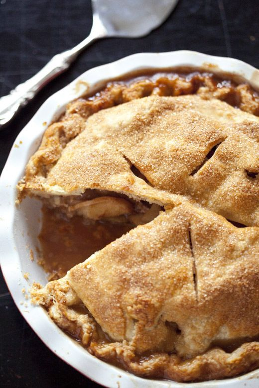 Easy Pie Dough and Double Crusted Apple Pie