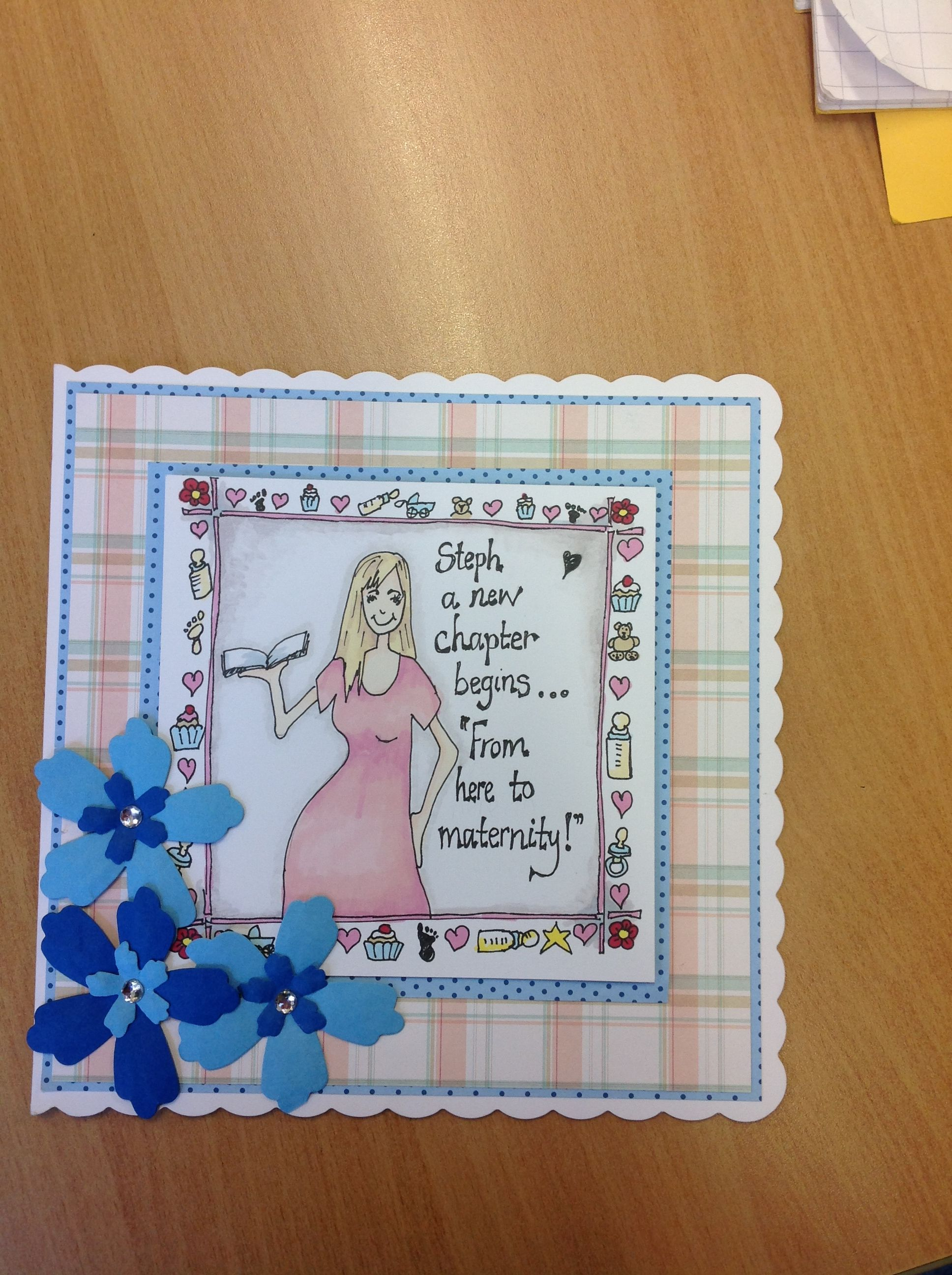 Card Made For A Colleagues Maternity Leave Hand Drawn Image