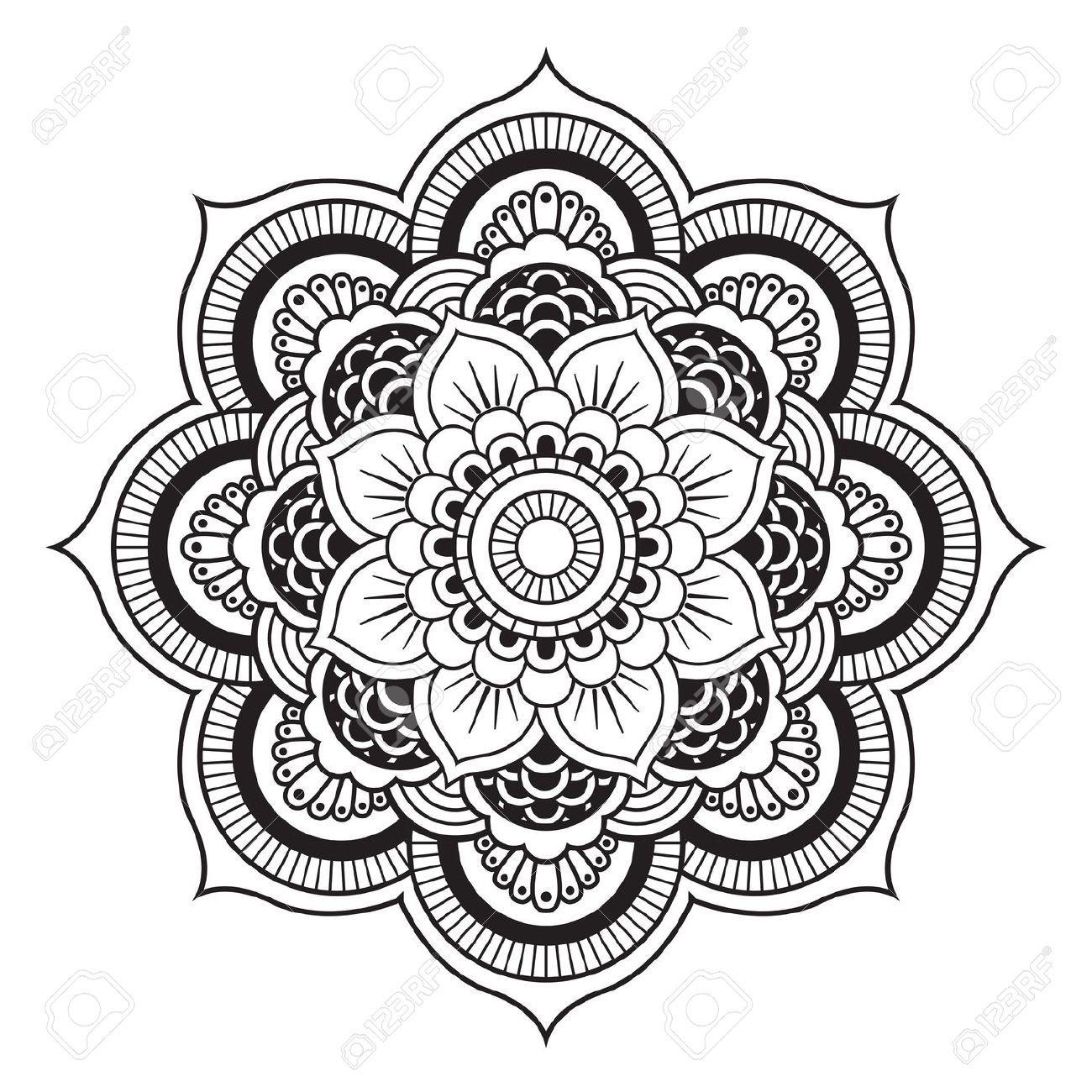 Mandala Patr 243 N De Ornamento Redondo Graphics Drawings