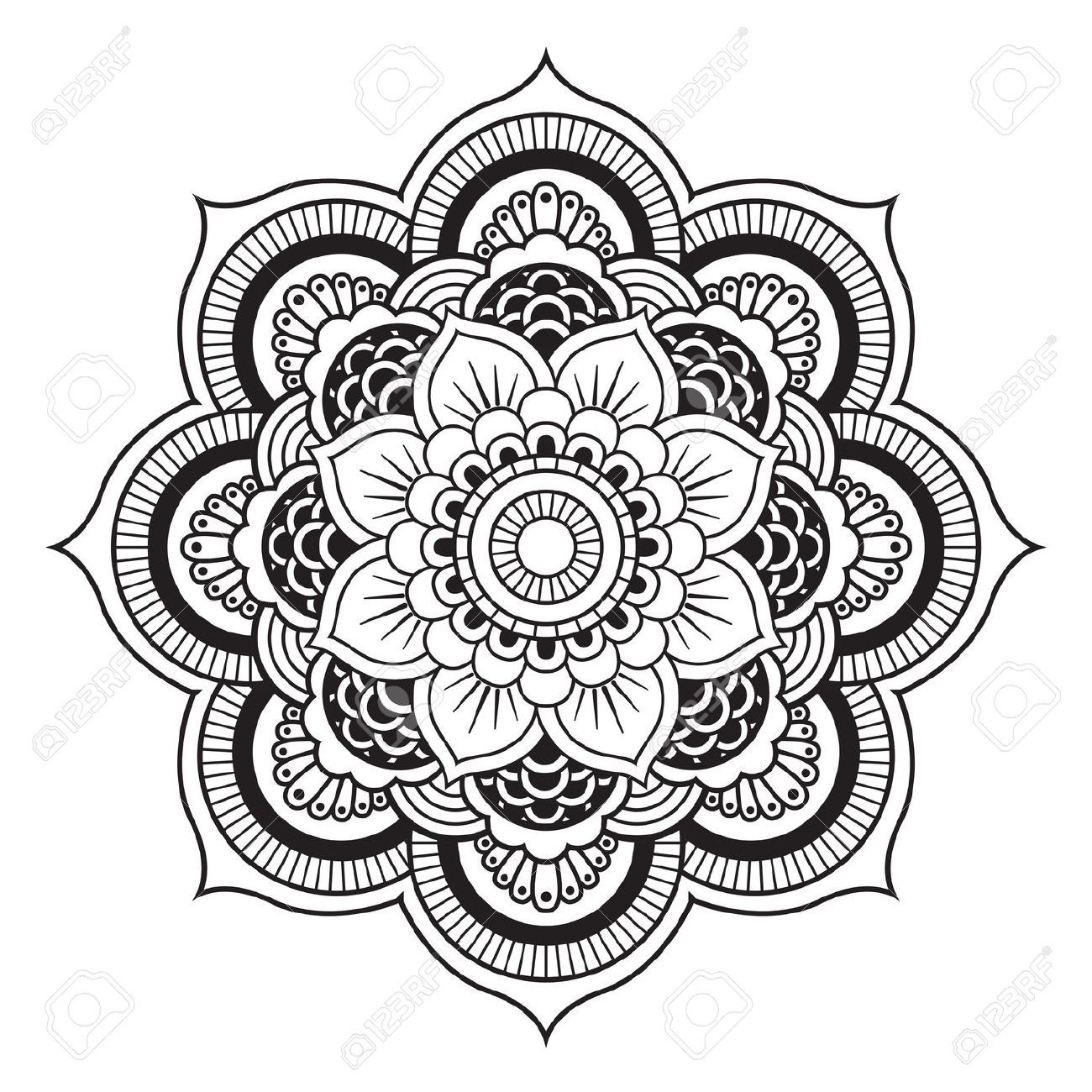Mandala. Motif Ornement rond Vector Les Cliparts Illustration ...