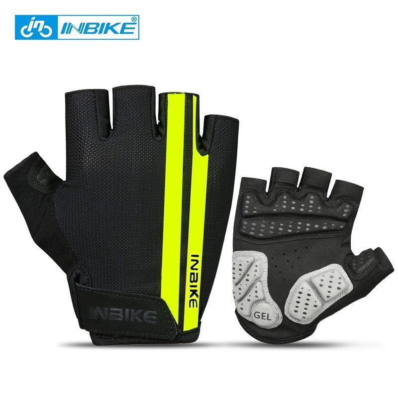INBIKE Bicycle Gloves Touch Screen Full Finger Mountain Bike Gloves Men Gel Pad