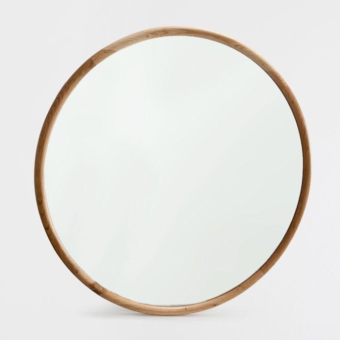 Imagen 1 del producto espejo redondo madera natural deco for Espejo redondo negro