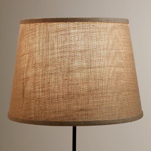 Natural Burlap Table Lamp Shade
