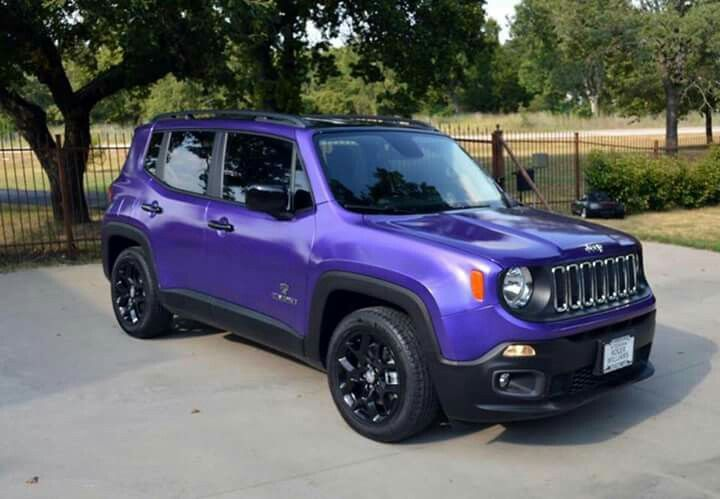 Purple Jeep Renegade Purple Jeep Jeep Cars