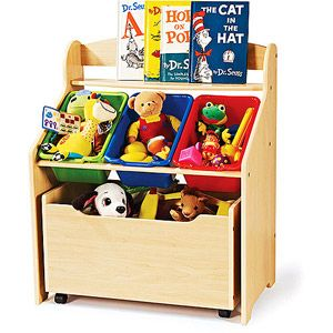 Tot Tutors 3 Tier Toddler Storage Unit With Rollout Toy Box Walmart Com Kids Toy Boxes Kid Toy Storage Kids Storage Units
