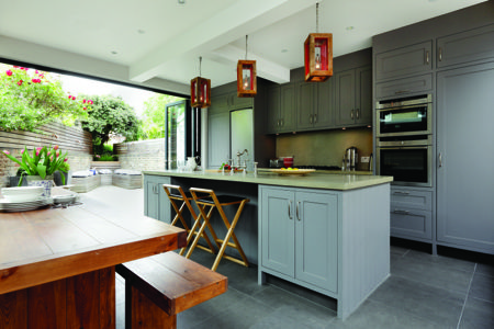 Throw open the bi-fold doors and let the sun shine in ...