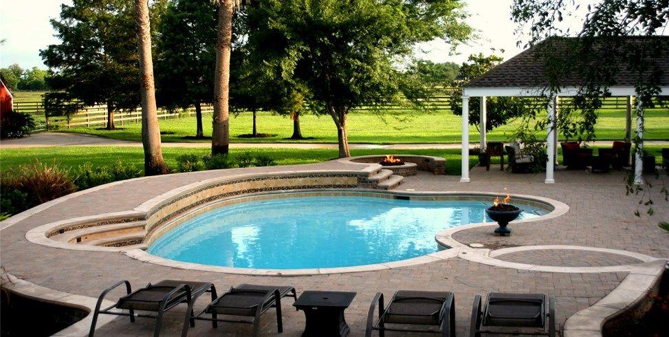Custom Pool, Pool Design Lightfoot Landscapes, Inc. Houston, TX ...