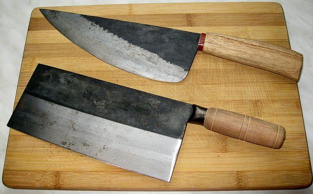 professional chinese carbon steel butcher knife vegetable cleaver by via flickr. Black Bedroom Furniture Sets. Home Design Ideas
