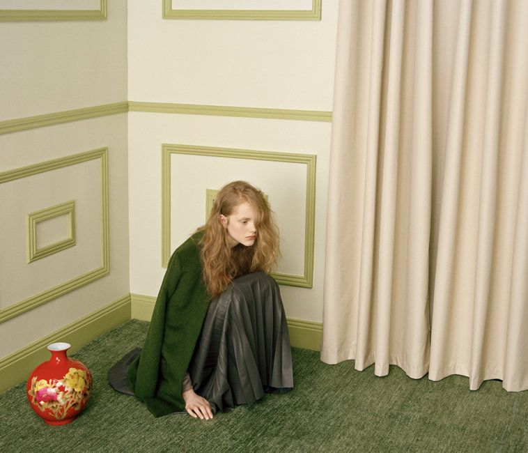Photography: James Tolich Fashion: Janai Anselmi Hair: Madison VoloshinMake-up: Isabella SchimidSet Design: Danielle Selig  Model: Emma Laird @ Priscillas