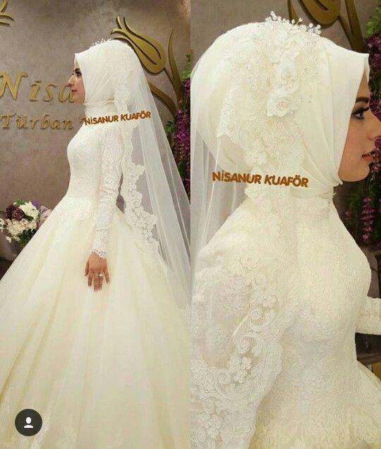 62b3ab12811d1 Tesettür gelinlik   tesettür gelinlik   Gelinlik, Elbise düğün, Düğün