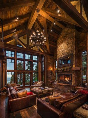 Exquisitely designed rustic lakeside home in the N
