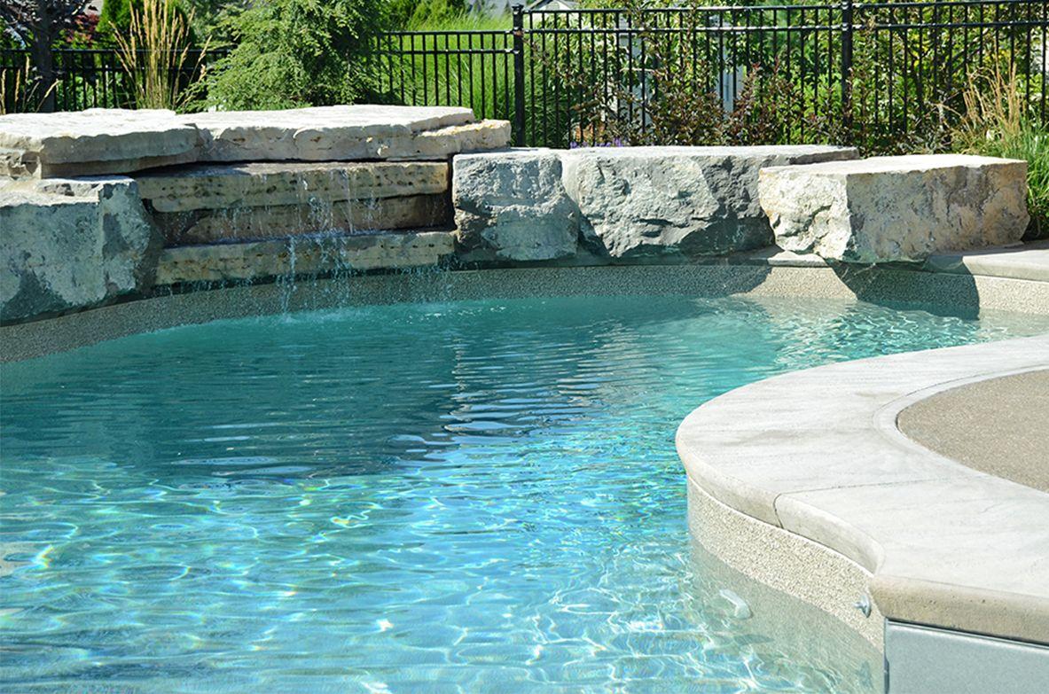 Sand Gunite Liner Water Colour Green Gli Pool Landscape Design Pool Colors Pool Liners Inground