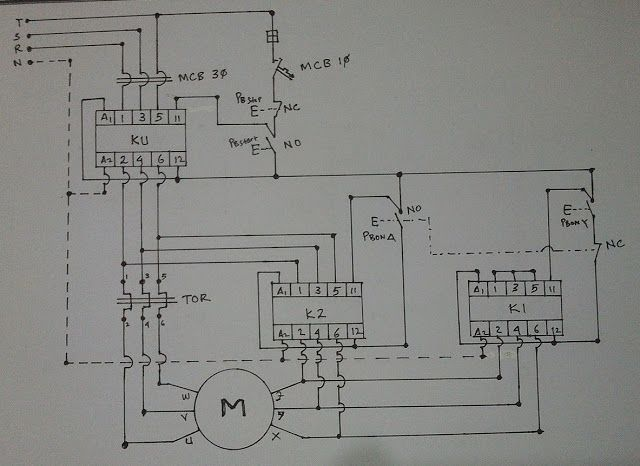 StarDelta Wiring Diagram  Electrical Engineering Updates | Electronics and electrical Projects