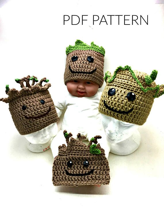 Crochet Groot Hat *PATTERN ONLY*   Needle Me   Pinterest   Comic con