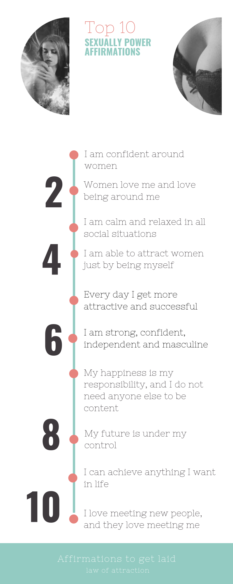 Top 10 Sexually Power Affirmations Law Of Attraction Attraction How To Get
