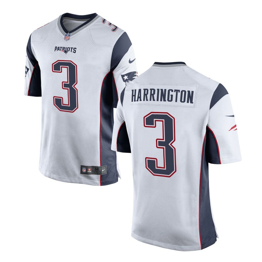 Nike Men S New England Patriots Customized Game Away Jersey 3 Harrington