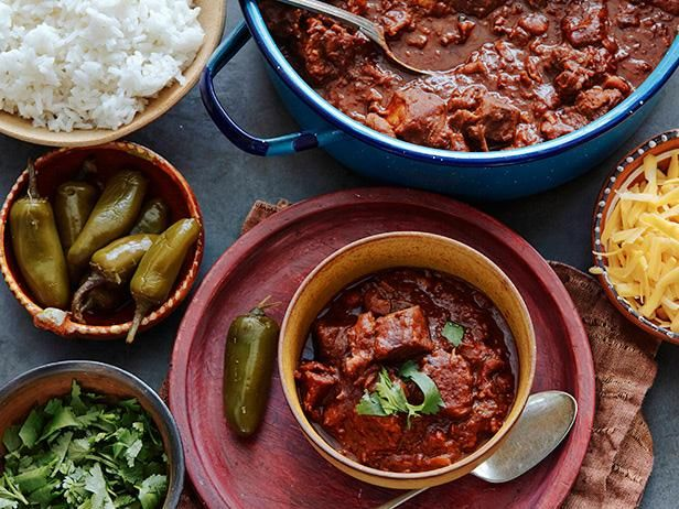 Chili Con Carne Recipe Food Network Recipes Batch Cooking Recipes Con Carne Recipe