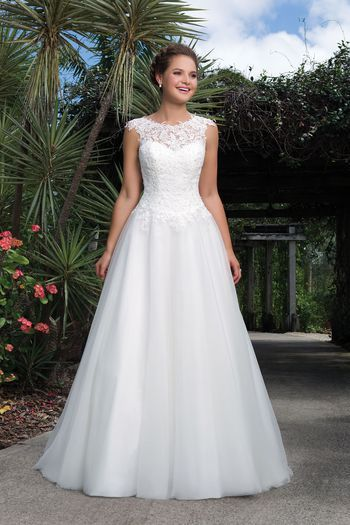 Sweetheart Gowns - Style 6127: Lace, Tulle Ball Gown Accentuated by a Sabrina Neckline