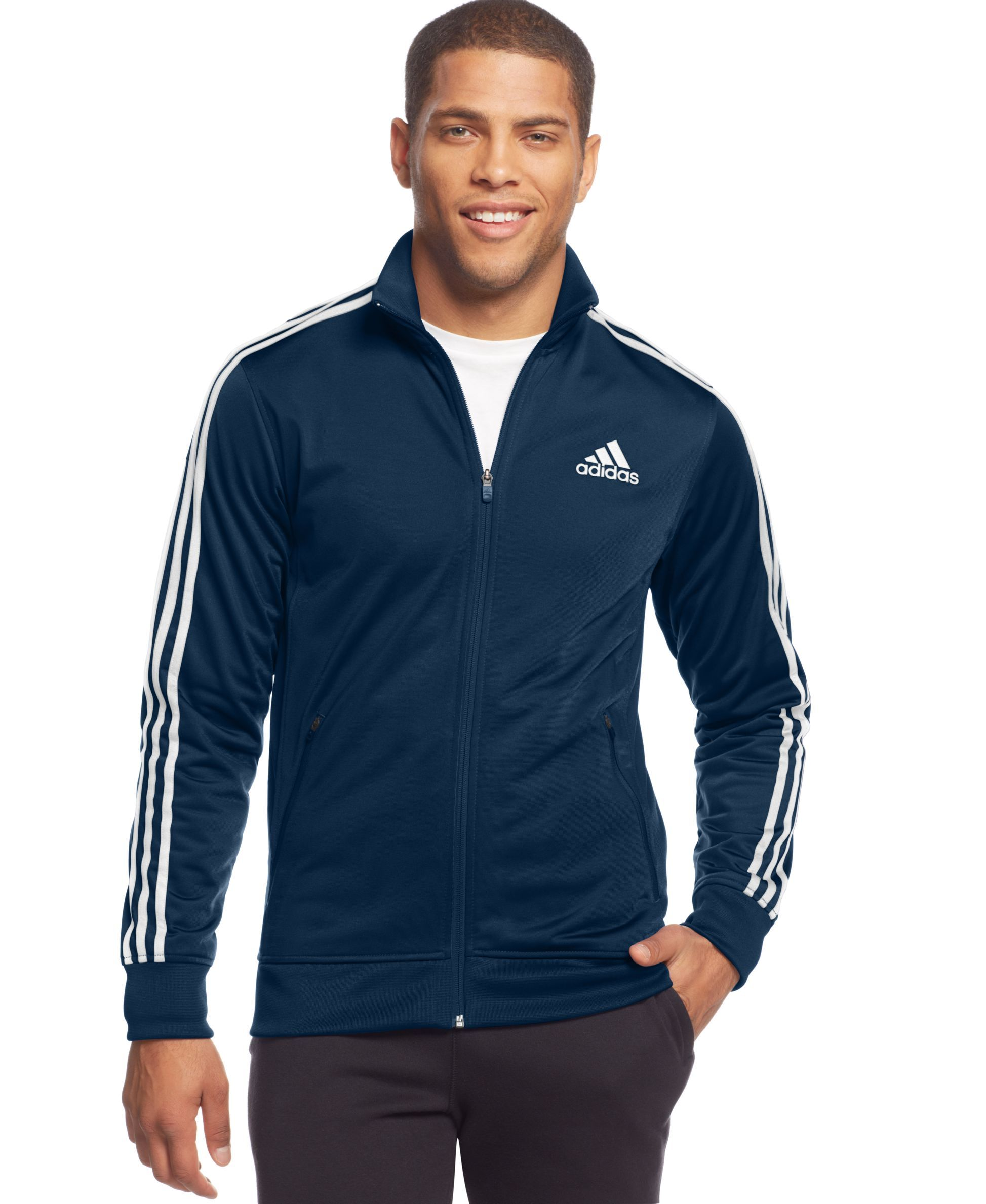 8ddfbe234 adidas Post Game Striped Track Jacket