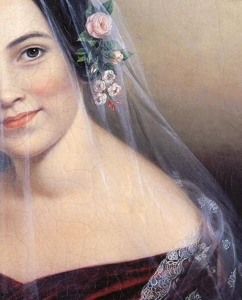 Detail of Veil of Mystery by Sarah Miriam Peale