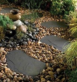 Black Slate Outdoor Paving X Mm Stepping Stone Topps Tiles 400 x 300