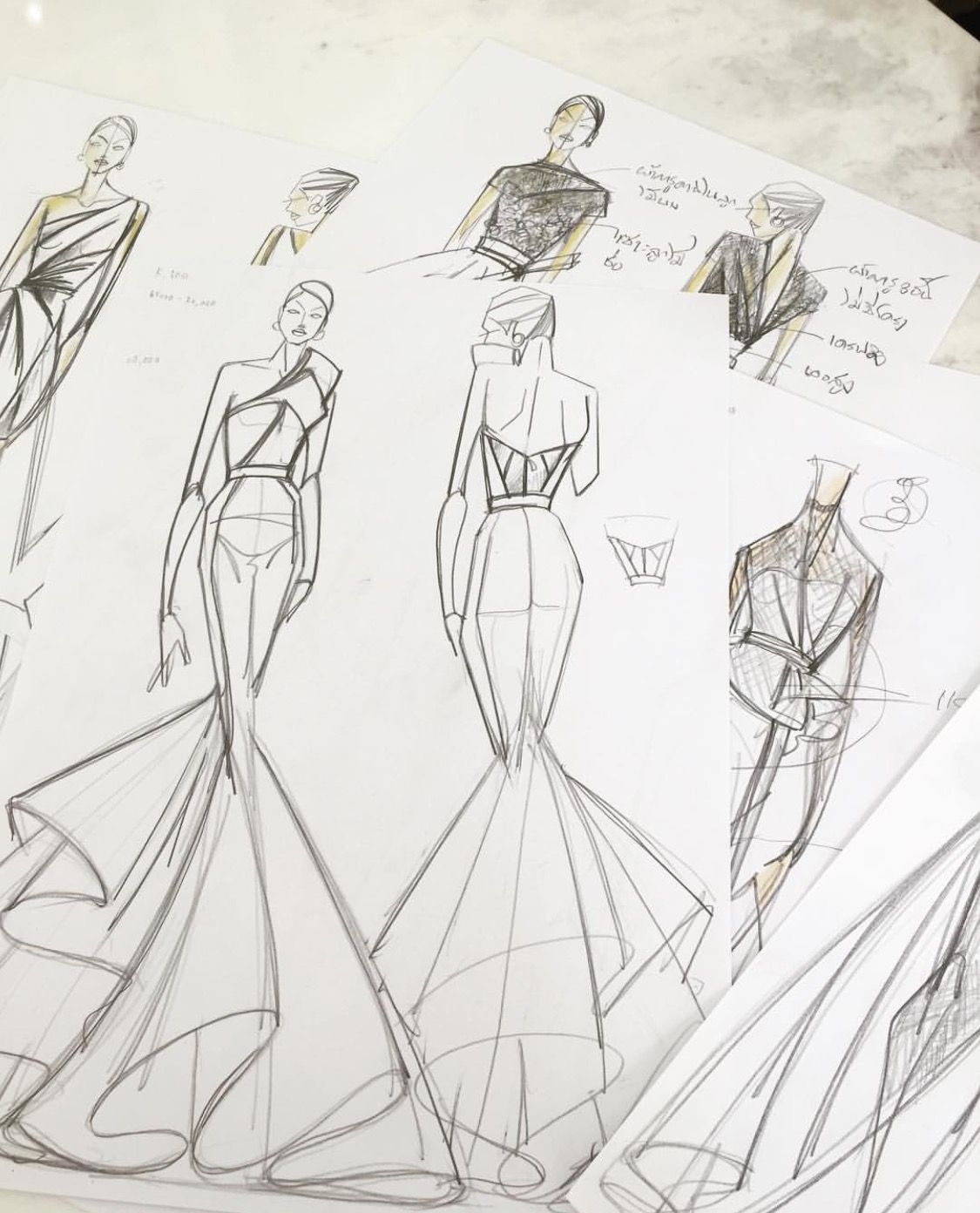 Design fashion drawings on pinterest